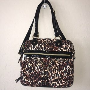 Betsey Johnson | Leopard Purse Pink Liner Pockets
